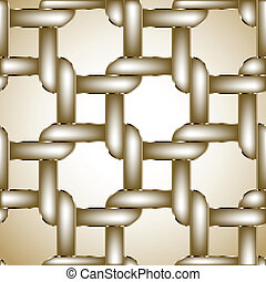 Chain gold fence. Vector illustration - Chainlink fence...