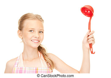 little housewife with red ladle - picture of little...