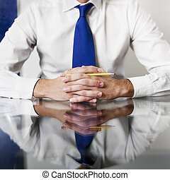 confident businessman - cropped view of businessman with...