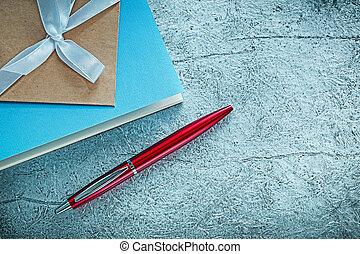 vindima, superfície, caneta,  biro,  Notepads, prata