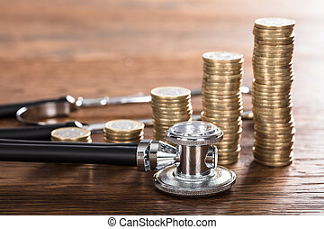 Stethoscope With Stacked Coin