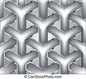 Chain silver fence. Vector illustration - Chainlink fence...