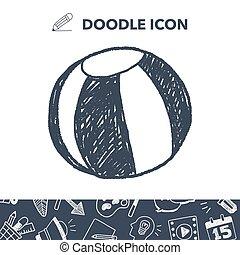 Doodle Beach Ball