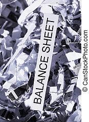 papierschnitzel balance sheet - papierschnitzel tagged...