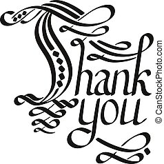 Vector Thank You Hand Lettering