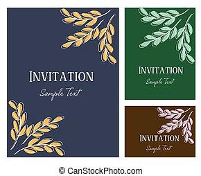 Invitation card vector illustration