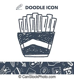 Doodle French fries