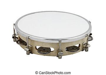 tambourine - The image of tambourine under the white...