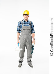 profissional, construção, trabalhador