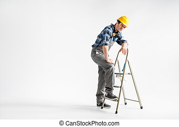 Professional construction worker - Full length portrait of...