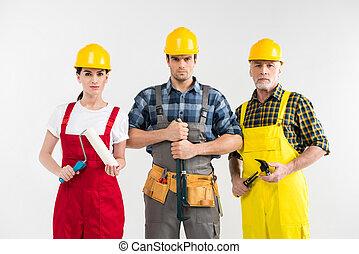 profissional, Trabalhadores, construção