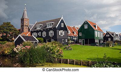 Marken village Holland - Marken, an historical village on a...