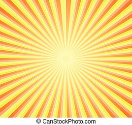 retro sunburst background - Illustration of retro sunburst...