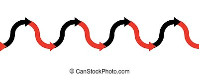 In The Red Black Business Symbol Arrow Wave - In the red -...