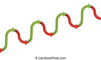 Upward Trend Gradual Increase Symbol Arrows