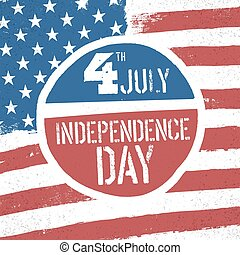 4th July Independence day. American flag patriotic...
