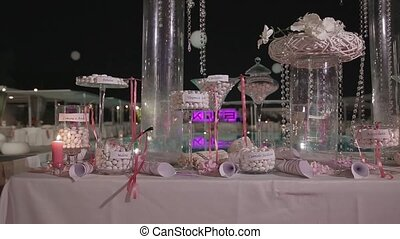 Exclusive candy bar at the wedding.