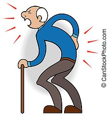 Aches and Pains - Elderly man is complaining about his...