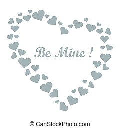 Cute vector illustration: heart composed of many hearts and...