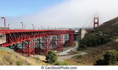 Golden Bridge Vista Point - Detail of Golden Gate Bridge...