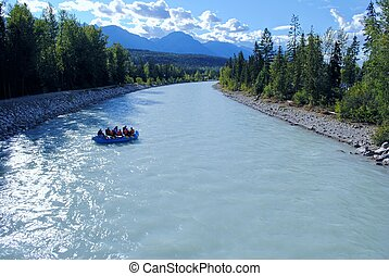 River Rafting - Rafting on the Kicking Horse River in...