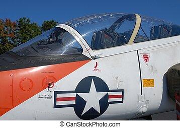 vintage fighter jet
