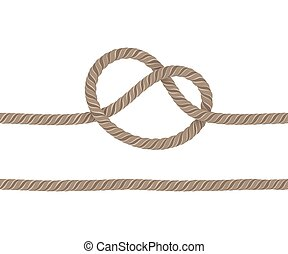 Rope is knotted