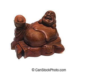 Budda - Figurine a-souvenir on a white background