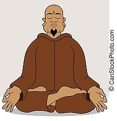 Meditation - Guru is seeking enlightenment