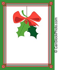 Mistletoe - Christmas mistletoe hanging in a frame with room...