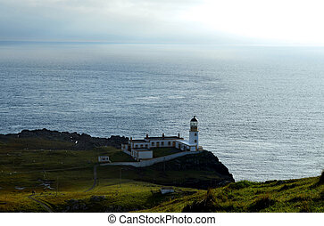 Landscape Surrounding Neist Point Lighthouse in Scotland -...