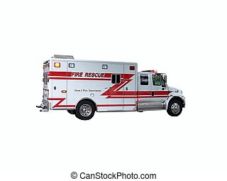 Fire Rescue Truck 2 - New Fire Rescue Truck with Flashing...