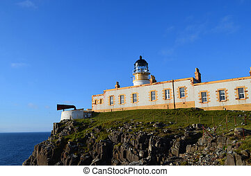 Brilliant Blue Skies Behind Neist Point Lighthouse in...