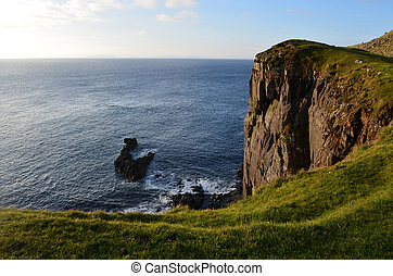 Amazing Towering Sea Cliff at Neist Point in Scotland -...