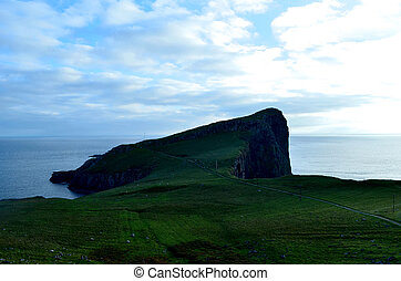 Lush Green Landscape and Sea Cliffs at Neist Point -...