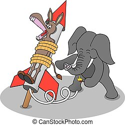 Rocket Donkey - Republican elephant is lighting fuse to...