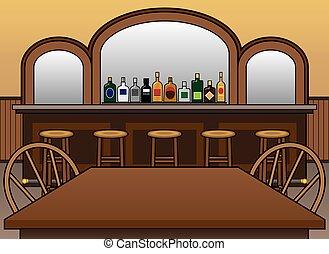 Saloon - Interior of empty saloon