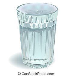 glass of water Illustration in vector format