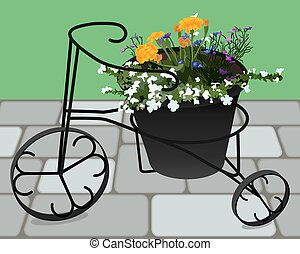 Tricycle Flower Planter - Decorative tricycle planter is...