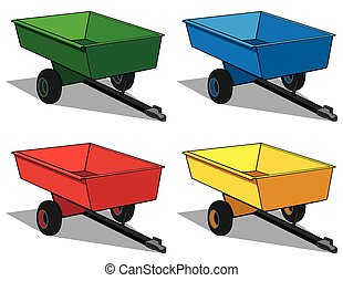 Utility Trailer - Utility trailer in four different colors