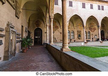 Basilica of Saint Anthony Courtyard . Padua, Italy