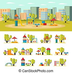 Summer Playground Concept - Summer playground concept with...