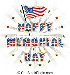 Happy memorial day USA, a national American holiday, vector...