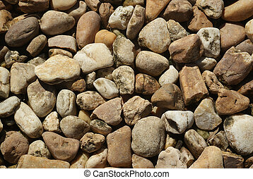 River rock - Tan/natural river rock background texture