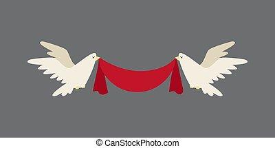 Happy valentine day flat design love wedding items and heart love romance celebration vector illustration.