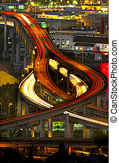 Light Trails on Marquam Freeway 2 - Light Trails on Marquam...