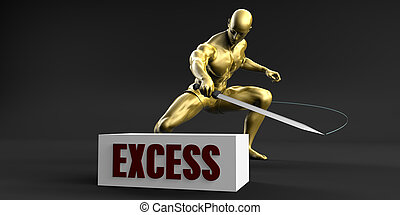 Reduce Excess and Minimize Business Concept
