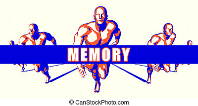 Memory as a Competition Concept Illustration Art
