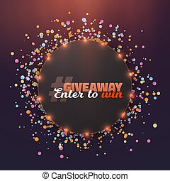 Vector Giveaway Button - Illustration of Vector Giveaway...