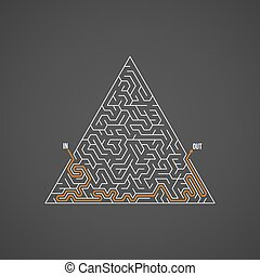 Vector Maze Puzzle with Solution